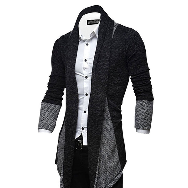 Men's Casual Long Cardigan Sweater