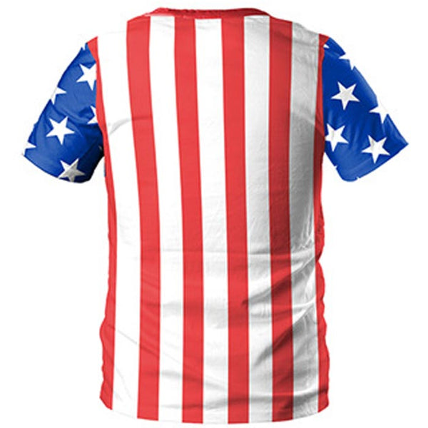 3D Flag Cat Printed Short Sleeve T-shirt