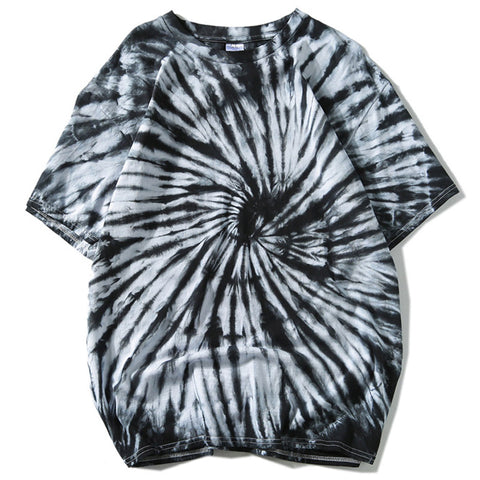 Tie-dye Loose Hip-hop  Street Style Men T-shirt