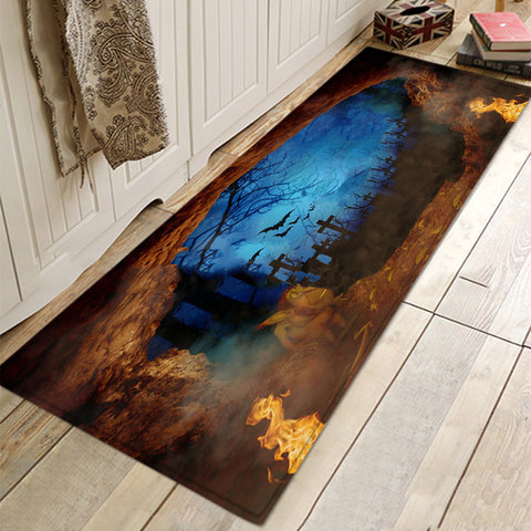 Halloween Night Mat Rugs Doormat For Bathroom Living Room Kitchen