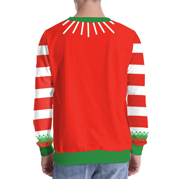 Christmas Tree Digital Print Round Neck T-shirt Tops
