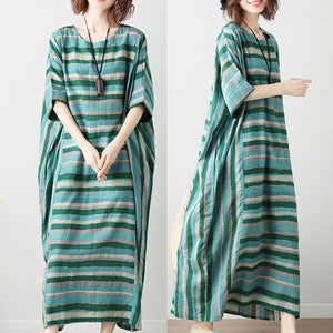 Plus Size Striped Printed Loose Dress