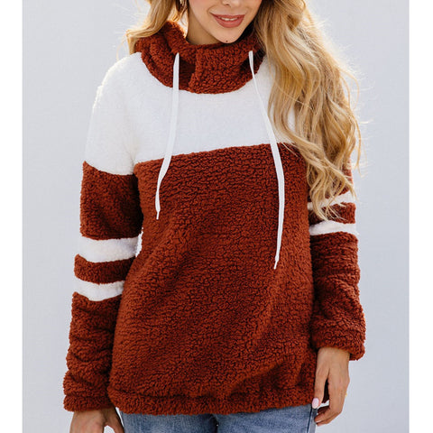 Splicing Tether Long Sleeve Hoodie