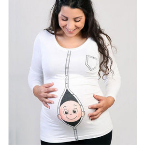New Maternity Shirt Specialized for Pregnant Women Plus Size