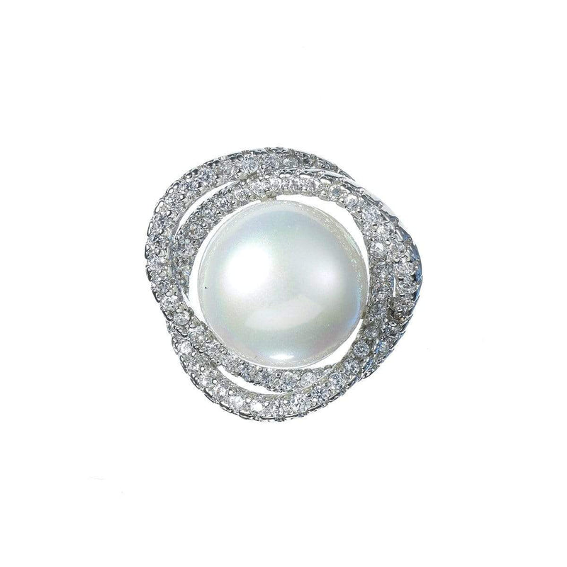 Pearly White Brooches Forest