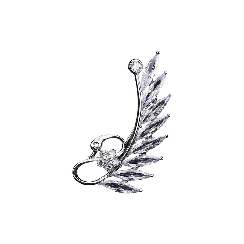 Angelic Wing Brooches Forest Platinum plated