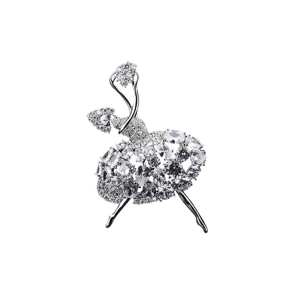 Ballerina Brooches Forest Platinum plated