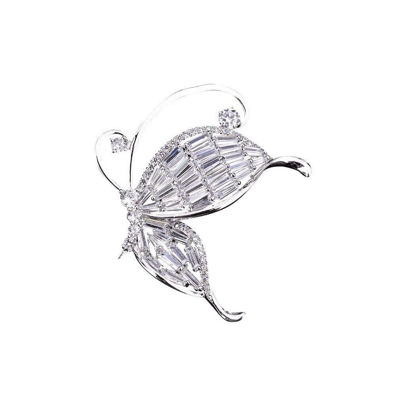 Butterfly Dream Brooches Forest Platinum plated