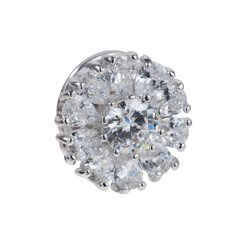 Cloistered Sparkle Brooches Forest Platinum plated