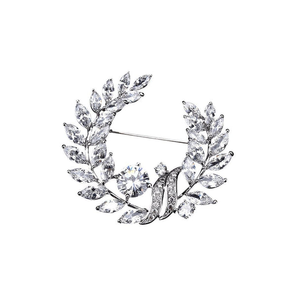 Evergreen Brooches Forest Platinum plated