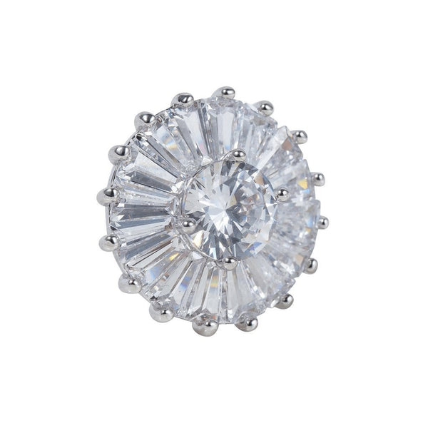 Ferris Wheel Brooches Forest Platinum plated