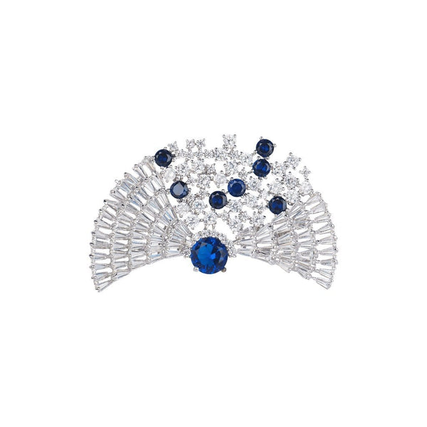 Glittering Fanfare Brooches Forest Platinum plated