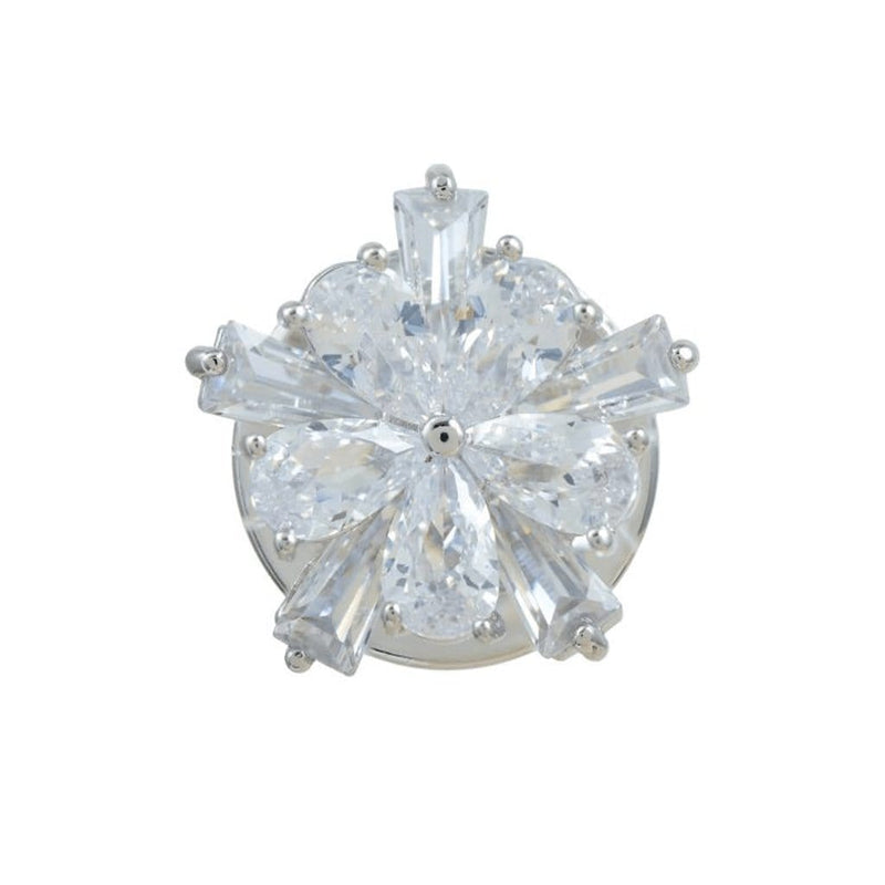 Heavenly Fleur Brooches Forest Platinum plated