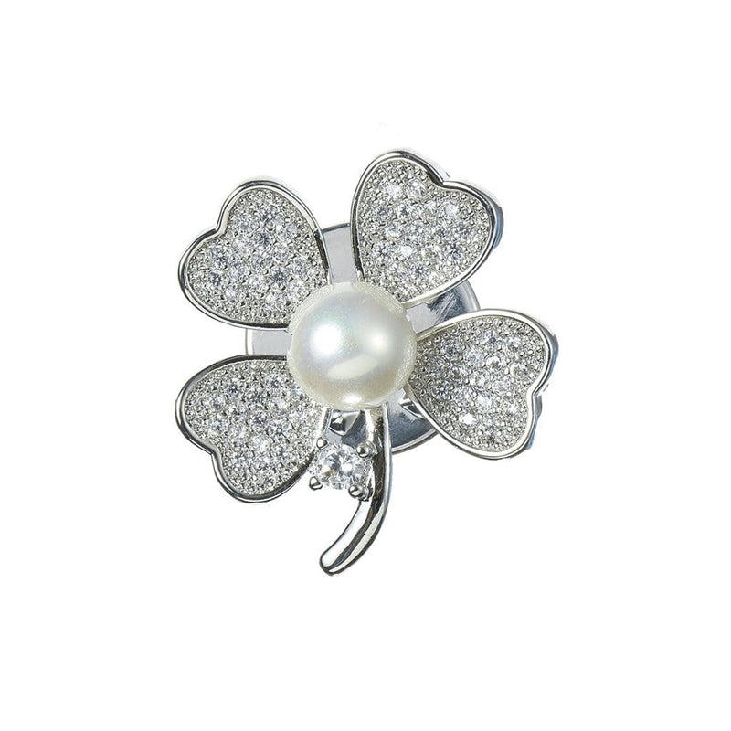 Lucky Clover Brooches Forest Platinum-plated