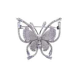 Monarch Butterfly Brooches Forest Platinum plated