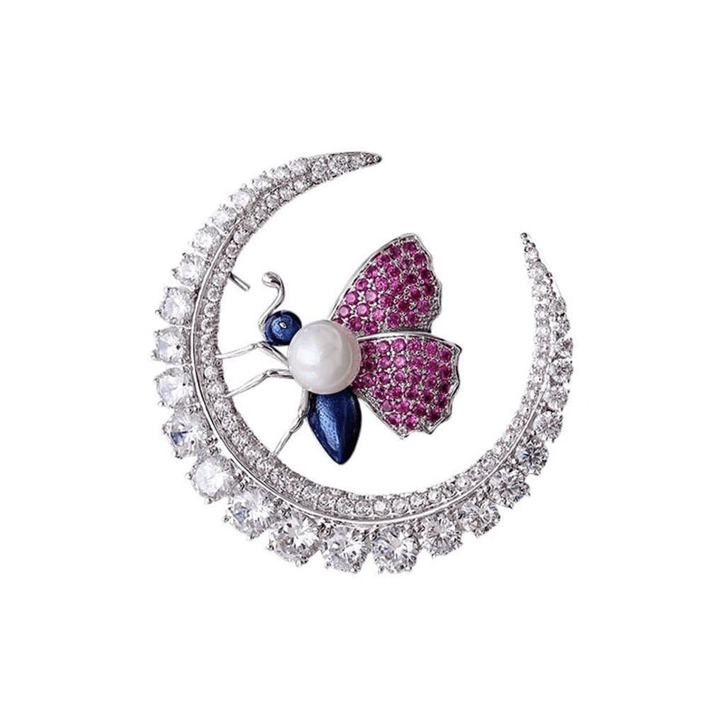 Moonlight Serenade Brooches Forest Platinum plated