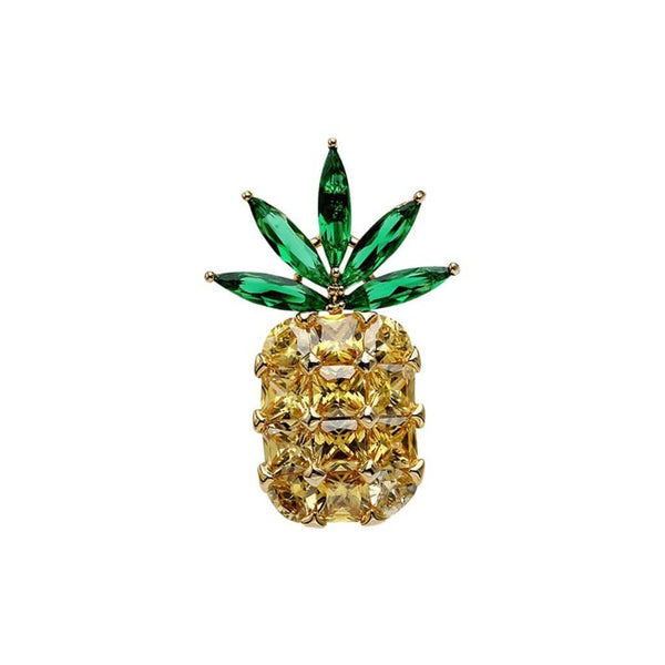 Pin-apple Brooches Forest 18k gold plated