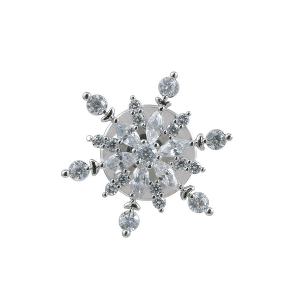 Radiant Starlight Brooches Forest Platinum plated