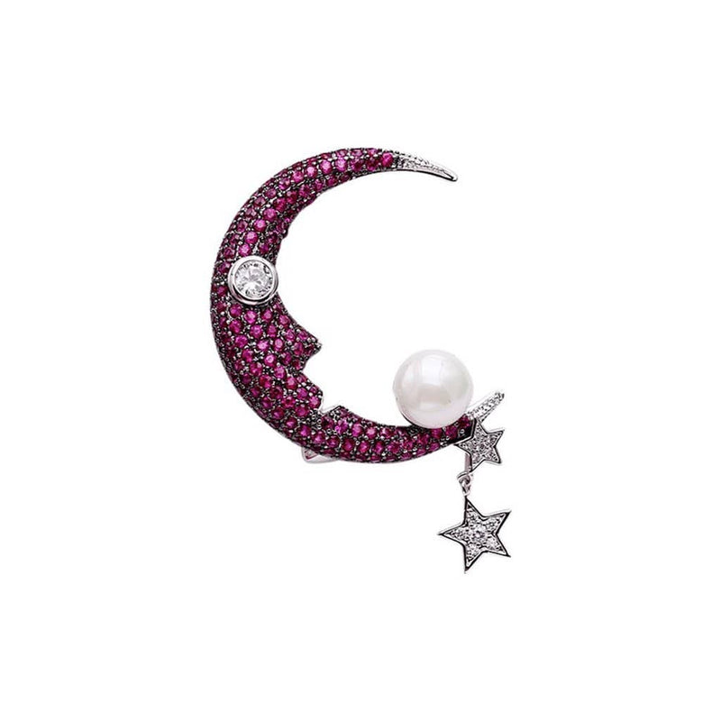 Sister Moon Brooches Forest Platinum plated