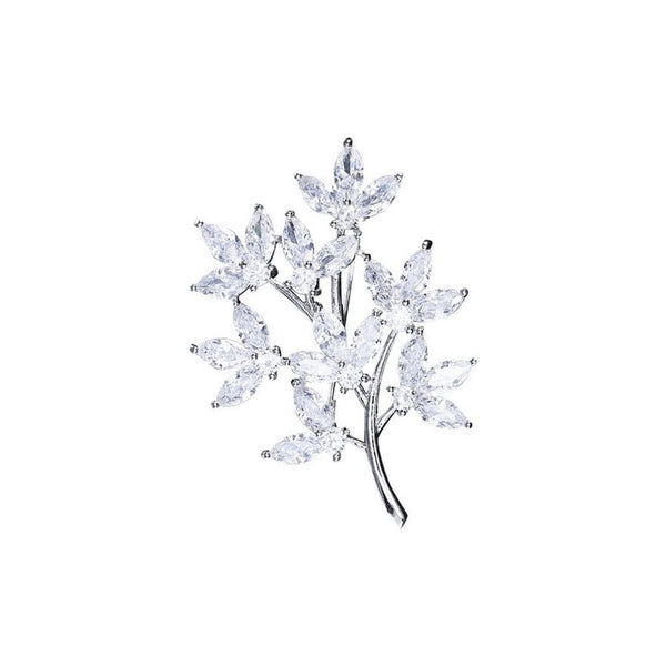 Summer Symphony Brooches Forest Platinum plated