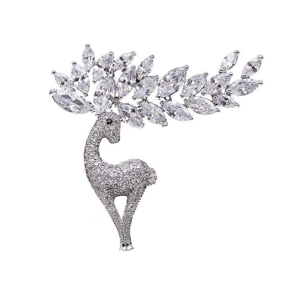 White Deer Brooches Forest