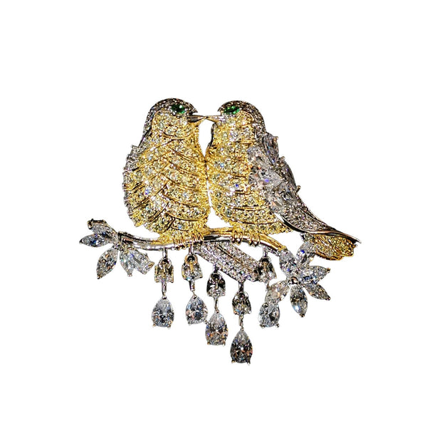 Lovebirds Brooches Shop At Forest gold