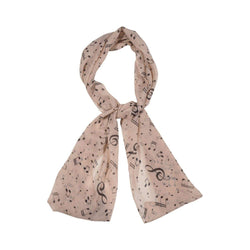 Musical Note Scarves Forest Peach