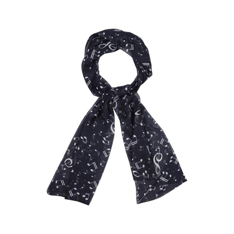 Musical Note Scarves Forest Black