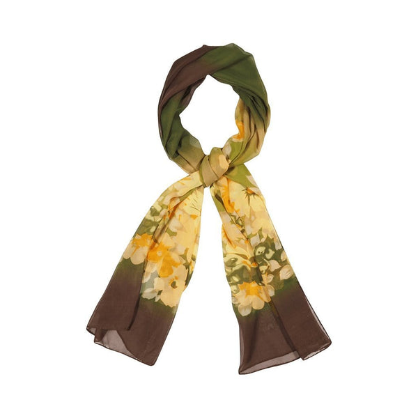 Dual Tone Scarves Forest Greenish Brown
