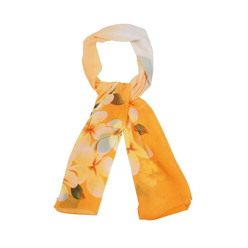 Frangipani Allure Scarves Forest Yellow Frangipani Allure