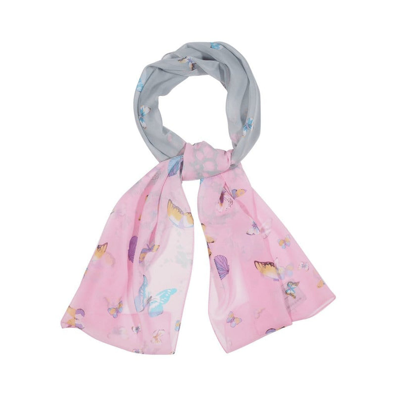 Ink Bolt Scarves Forest Grey/Pink