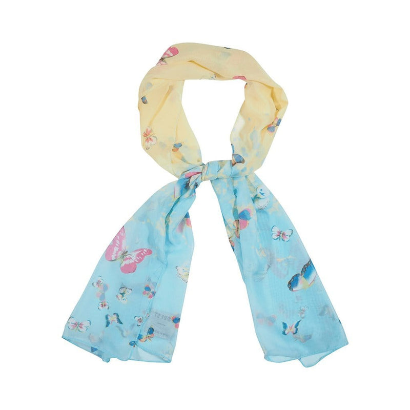 Ink Bolt Scarves Forest Yellow/Light blue