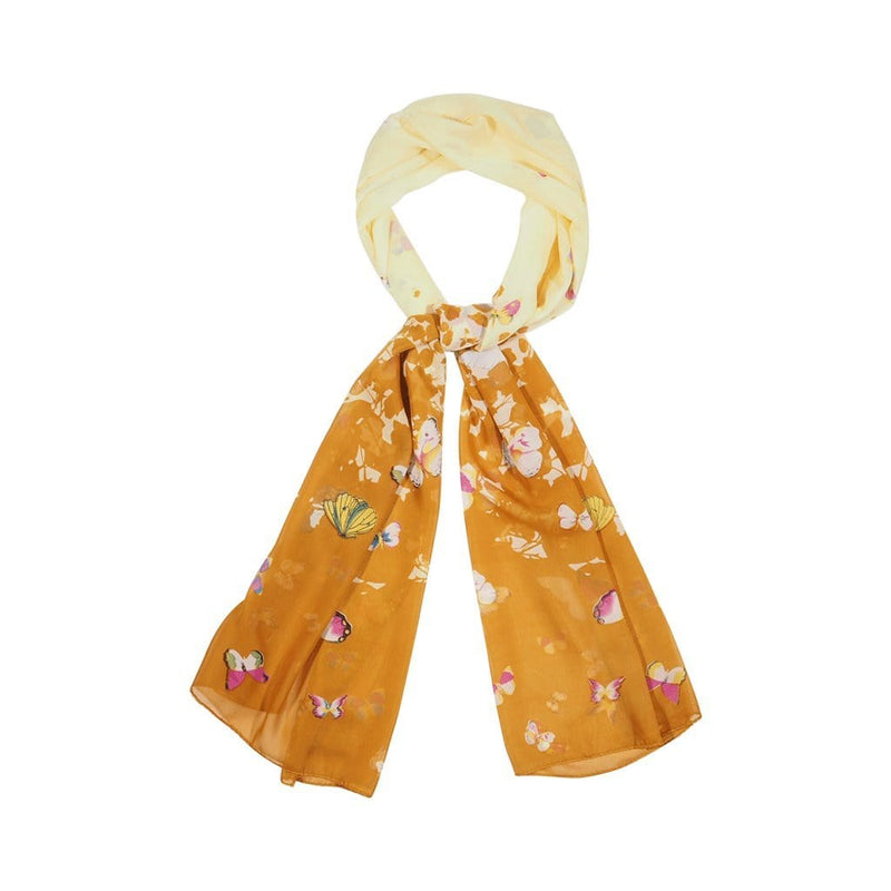 Ink Bolt Scarves Forest Yellow/Mustard