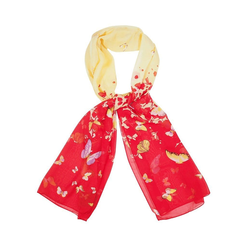 Ink Bolt Scarves Forest Yellow/Red