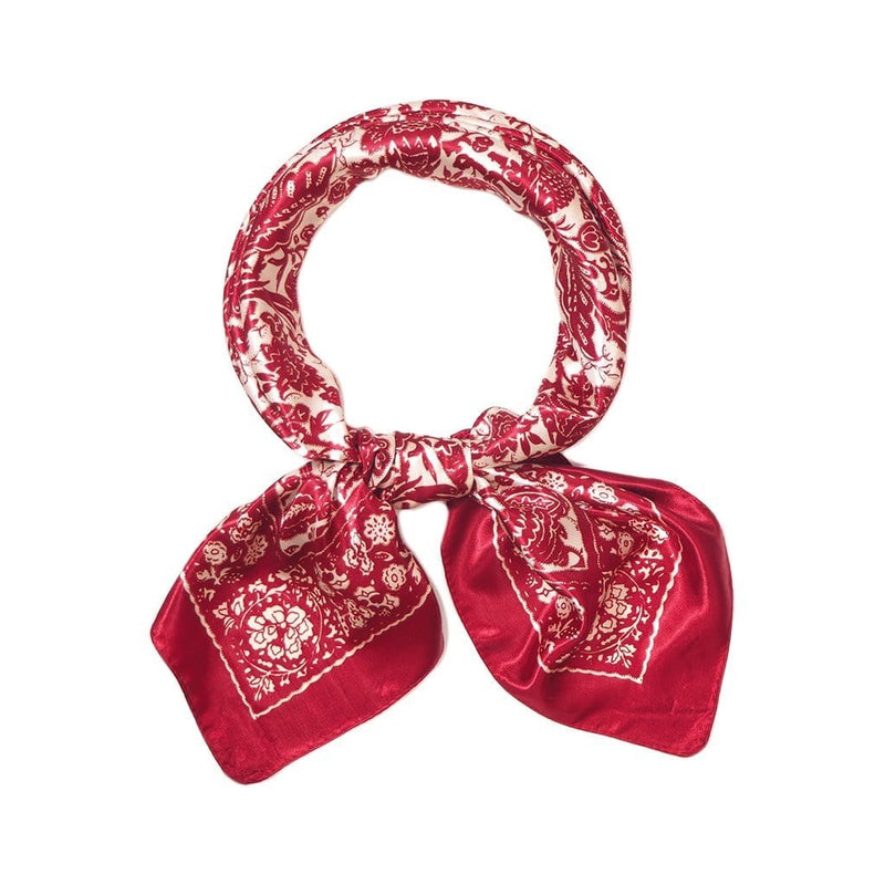 Indian Ruby Scarves Forest Red Indian Ruby