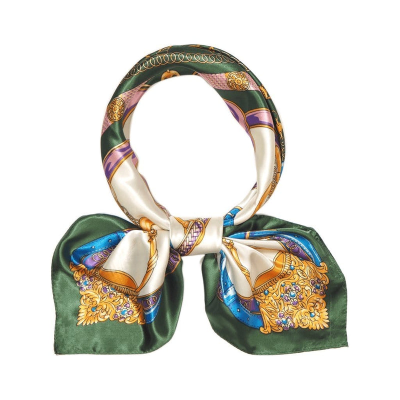 Wheel of Fortune Scarves Forest Green Wheel of Fortune