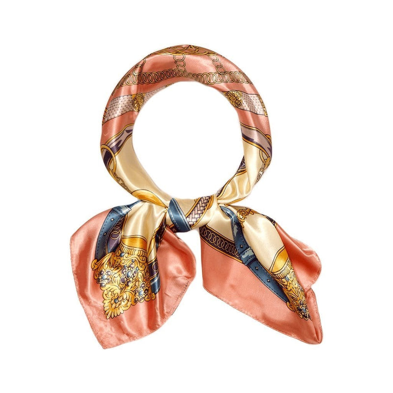 Wheel of Fortune Scarves Forest Peach Wheel of Fortune