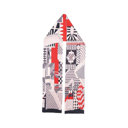 Aztec Hypnosis Scarves Forest White with black/red