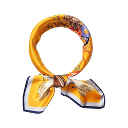 Floral Kaleidoscope Scarves Forest Yellow Floral Kaleidoscope