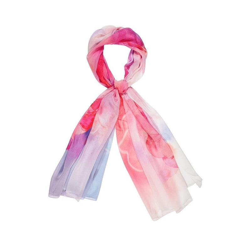 Floral Power Scarves Forest Pink gradient