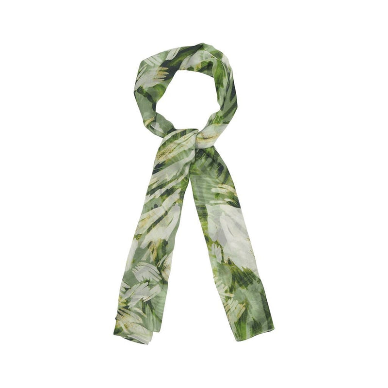 Flowers and Stalks Scarves Forest Green Flowers and Stalks
