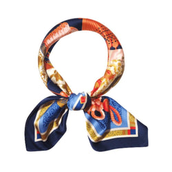 Good Luck & Prosperity Scarves Forest Navy Blue