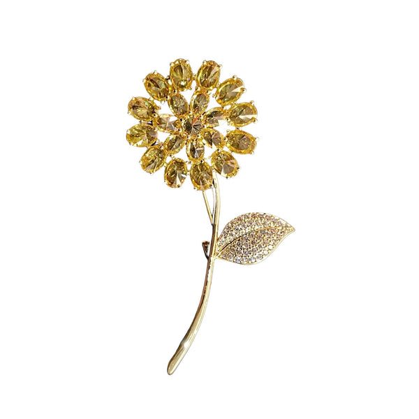 Sun flower Brooches Shop At Forest 18k yellow gold plated