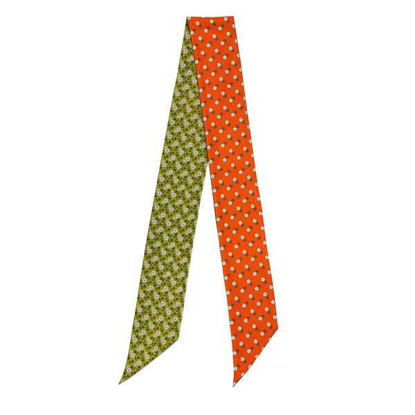 The Seena Scarves Forest Orange/Green