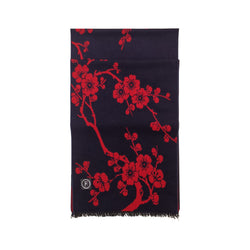 Cherry Blossom Scarves Forest Red
