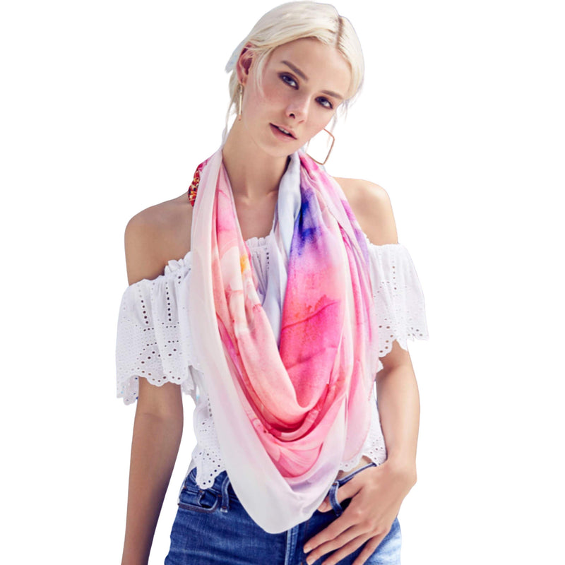 Floral Power Scarves Forest