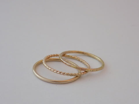 Thin 14K Gold Round Band