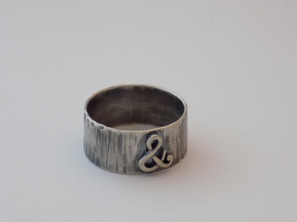 Ampersand & Ring in Sterling Silver