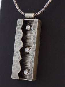 Sterling Silver Frozen River Pendant