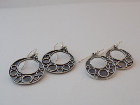 Argentium Silver Bubbles Earrings
